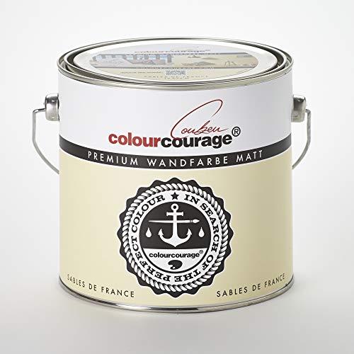 colourcourage L709449564 Premium matt Sables de France 2,5L bunte Wandfarbe
