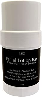 FACIAL LOTION BAR - Hydrate & Promote Anti-Aging with Premium, All-Natural Ingredients. Farm-Fresh Beeswax, Rich Botanicals & Essential Oils Form