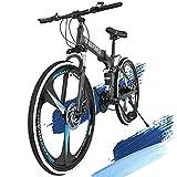 Best Folding Bikes - Folding Mountain Bike, 21 Speeds 26 Inch Wheels Review