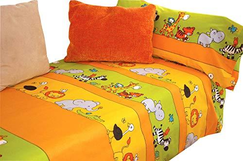Montse Interiors Juego de sábanas Estampado (Zoo, para Cama de 90x190/200)