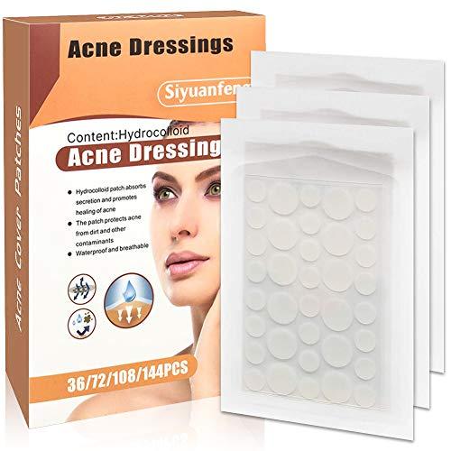 J TOHLO 180 PCS Pickel Pflaste Akne Pimple Patch Unsichtbare Hydrokolloide Absorbierendes Akne Patch für Gesicht und Pflege