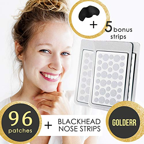 Acne Pimple Master Patch 96 Dots + Nose Pore Strips Blackhead Remover Absorbing Hydrocolloid...