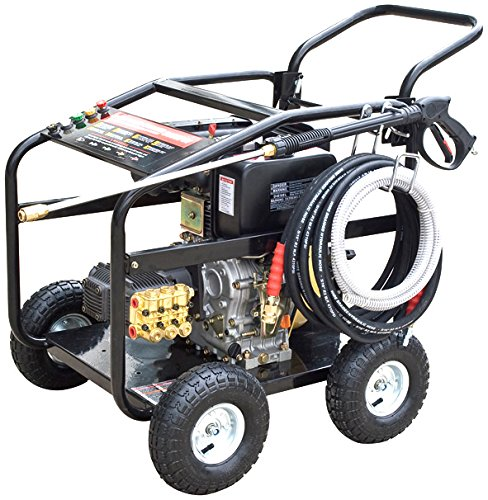diesel powered pressure washers 10HP Diesel Commercial Pressure Washer, 3600 PSI AR Pump, with Electric Start and Battery