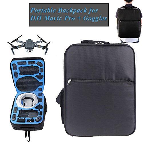 Rugzak voor DJI Mavic Pro + DJI Goggles Headset Case Bag Combo Accessoires Reizen Opslag Schoudertas Past Mavic Drone, Afstandsbediening, Extra Batterijen, Propellers door Hobby-Ace