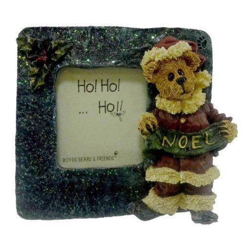 Boyds Bears Resin Mathias Kringlebeary Mini Frame Christmas Bearstone Santa - Resin 2.75 IN by Boyd's