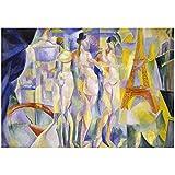 kakyd Robert Delaunay Relief Rythms Art Print Poster Pinturas Al Óleo Lienzo para Decoración del Hogar Arte De La Pared -50X70Cmx1 Sin Marco