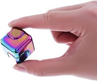 VIWIV Gyro Giratorio De Rubik Cubo Descompresión Juguete Deslumbrante Color Cuadrado Aleación Deformado Hiperactividad Trastorno Depresión Aburrimiento Aburrido (Comprar 1 Enviar 4),Metallic