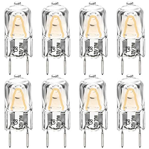 AMI PARTS WB25X10019 20W 120V Halogen Lamp Bulb(8 Pack) Replacement Part for GE Microwave
