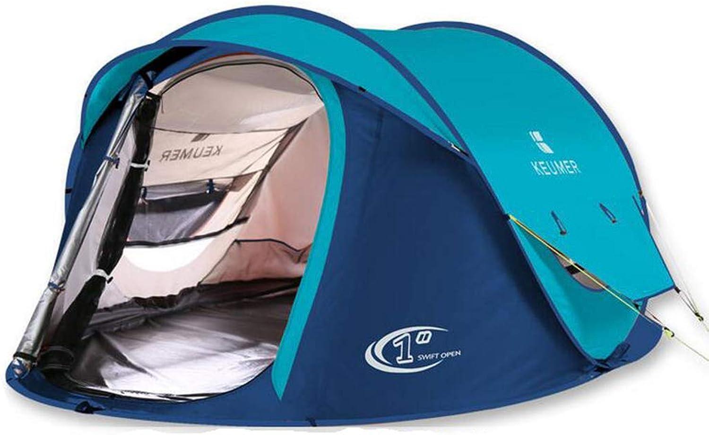 HUYYA Camping Zelte Wurfzelt 3-4 Personen, Wasserabweisend Das Zelt Faltbar Pop Up Sofortige Einrichtung Ausrüstung zum Wandern Rucksackreisen