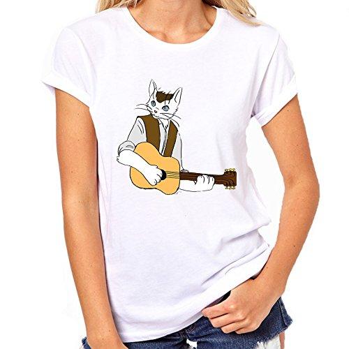 Mumford kat spelen gitaar T-Shirt Womens klassieke T-Shirt