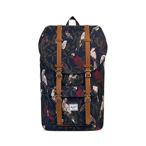 Herschel Little America Peacoat Salon 10014-01576-OS Faux Leather Backpack with Laptop Sleeve - Light Brown (Blue)