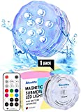Idealife Luces Sumergibles, Piscina Luz LED Impermeable,Control Remoto Bajo El Agua Luz para Decoración Acuario,Estanque,Bodas,Fiesta Jardín Etc,Decoloración Colorida,Luces Decorativas