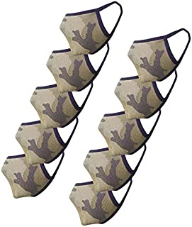 Cotton Face Mask Pack of 10 Army Print Washable Reusable Face Masks  Soft Earloop/Mouth Nose cover Face Masks Men Women Ki...