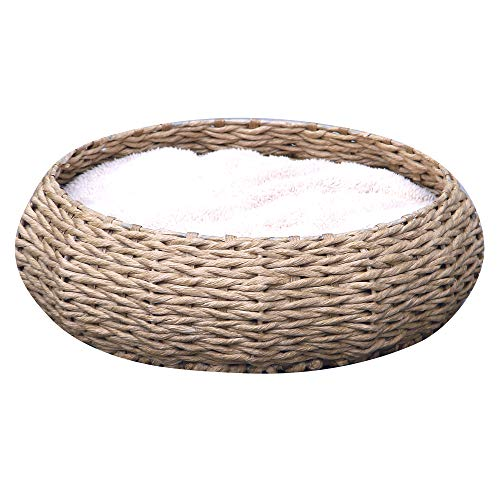 Petpals Hand Made Paper Rope Round Bed for Cat/Dog/Pet Sleep...
