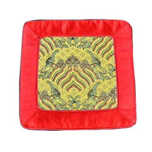 Wukong Paradise Damask Broderie Coaster Tapis De Sol Tapis De Thé Chemin De Table Accessoires De Thé-A08