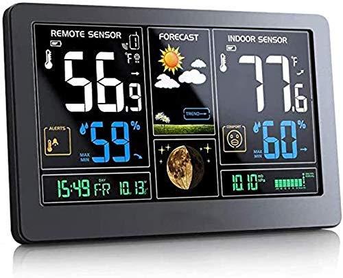 SGSG Stazione meteorologica con Display Jumbo e Orologio atomico , Termometro Wireless Display a Colori Termometro Meteo Digitale Stazione di previsione con Calendario e retroilluminazi