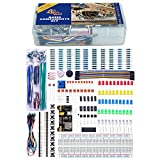 Quad Store(TM) - Basic Electronics Kit with breadboard, capacitor, resistor, led, switch