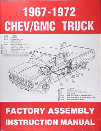 1967 1968 1969 1970 1971 1972 CHEVROLET & GMC TRUCKS & PICKUPS FACTORY ASSEMBLY MANUAL - INCLUDES ALL MODELS