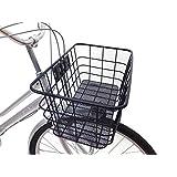 自転車 フロント 幅約51cm スーパージャンボバスケット フロントカゴ 前専用 ブラック