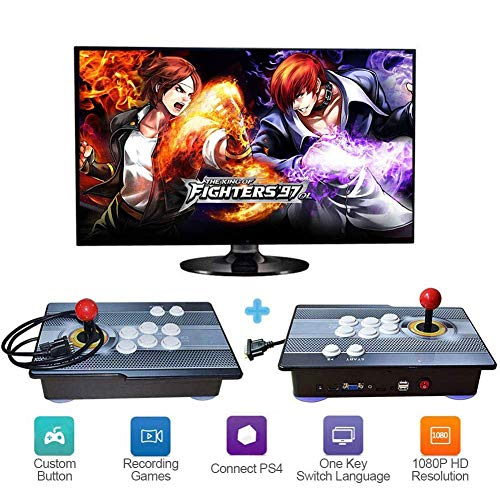 ZQYR GAME# Máquina de vídeo clásica 1920x1080 Full HD 2 Jugadores Multiplayer Home Arcade Consola 2350 Juegos Todo en 1 Doble Stick Nuevo Diseño Botones Power HDMI,Model: ACT-1829