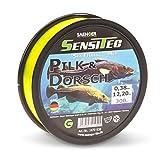 Sensitec Schnur für das Dorsch- und Pilkerangeln sowie das Brandungsangeln, Länge 300m, Farbe Gelb und Dunkelblau, 0,33mm - 0,45mm (Pilk & Dorsch Schnur - 0,45mm, 300)