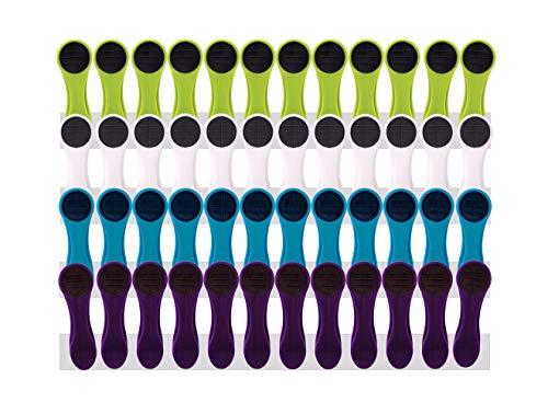 48 pinzas de la ropa Soft Grip Soft Touch Soft Touch (verde, blanco, azul, violeta, antracita)