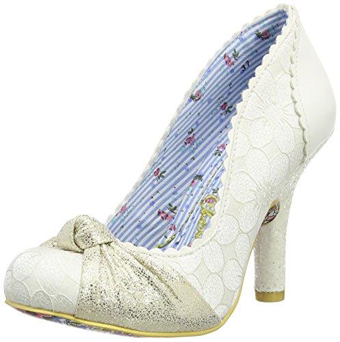 Irregular Choice  Smartie Pants,  Damen Pumps , Elfenbein - Off White (Cream), Gr. 39 EU (6 UK)