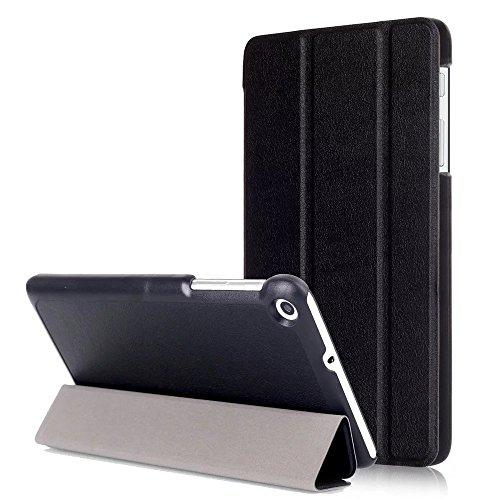 Kepuch Custer Hülle für Huawei MediaPad T1 7.0/T2 7.0,Smart PU-Leder Hüllen Schutzhülle Tasche Case Cover für Huawei MediaPad T1 7.0/T2 7.0 - Schwarz
