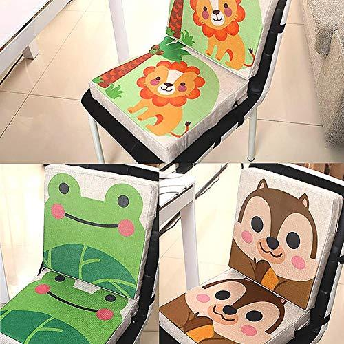 ParZ 2 PCS Cuscino per seggiolone per Bambini Sedia smontabile Regolabile per seggiolone