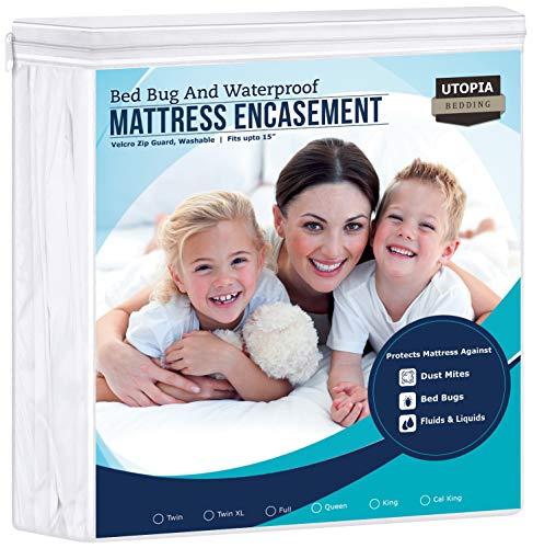 Utopia Bedding Zippered Mattress Encasement - Waterproof Mattress...