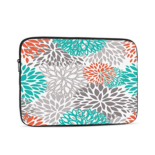 Laptop Sleeve Bag Orange Gray And Turquoise White Portable Zipper Tablet Cover Bag Notebook Computer Protective Bag,Black