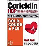 Coricidin Hbp, Decongestant-free Maximum Strength Cold, Cough & Flu Liquid Gels, 24 Count