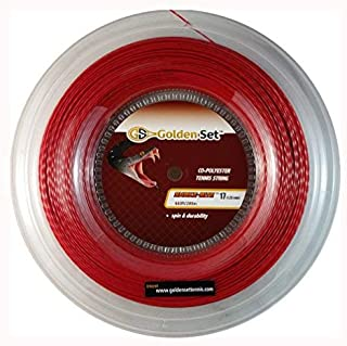 Golden Set Tennis Snake-Bite Max Spin 17g Polyester Tennis String