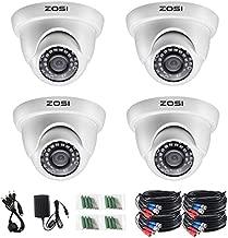 ZOSI 4 Pack 2.0MP HD 1080P Security Cameras Kit TVI/CVI/AHD CCTV Dome Home Cameras for 720P / 1080N / 1080P/5MP/4K HD-TVI AHD CVI Analog DVR Systems (White) (Renewed)
