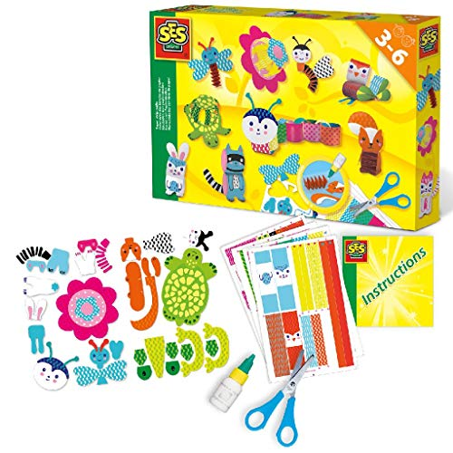 SES Creative 14648 Basteln mit Papierstreifen, Diverse Farben