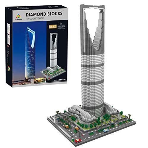 HZYM Arquitectura de la tormenta Saudi, 4692 piezas Nano Mini Blocks Saudi, kit de construcción de maqueta de arquitectura no compatible con Lego