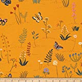 Cloud9 Organic Arid Wilderness Desert Blooms Gold, Quilting Fabric by the Yard