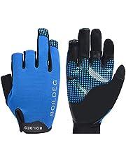 HEALLILY Balıkçı eldiveni, yansıtıcı profesyonel kaymaz eldiven, yelken eldiveni, balıkçılık eldiveni, açık havada kano sürmek için, kürek çekme, kano, kürek çekme, 1 çift (mavi L)