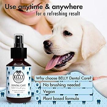 Belly Spray pour Soin Dentaire du Chien I Alternative Pratique au Dentifrice pour Chien I Spray Contre la Mauvaise Haleine I Élimine Le Tartre I Prévient la Formation de Plaque des Chiens, 100 ML