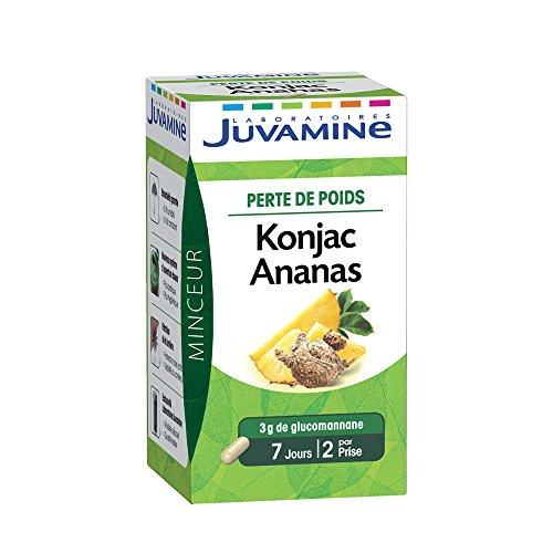 JUVAMINE Konjac Ananas Programme Minceur Perte de Poids 42 Gélules