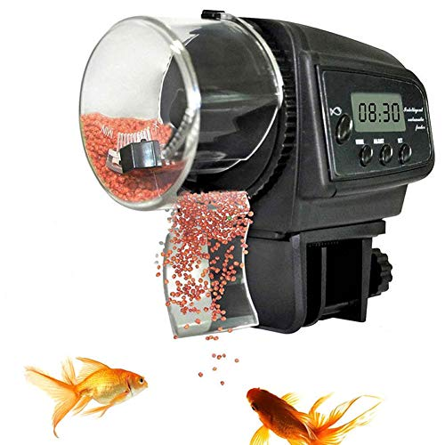 XYWBTCXK Aquarium 65 ml Fischfutterautomat für Aquarium Auto Feeders mit Timer Pet Feeding Spender LCD Display-Fisch-Zufuhr