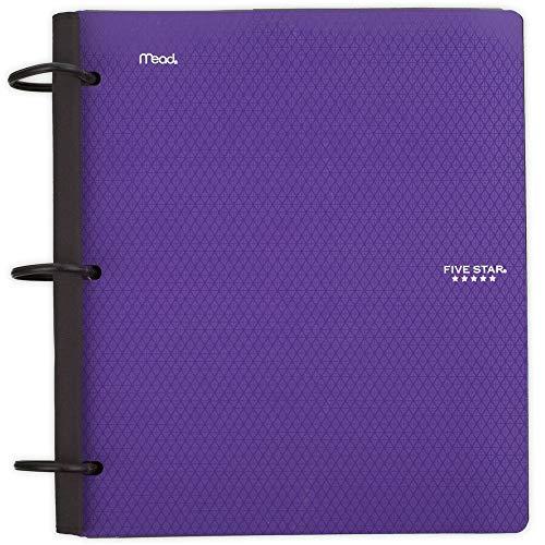 Five Star Flex Hybrid NoteBinder, 1 Inch Binder, Notebook and Binder All-in-One, Purple (29328AB6)