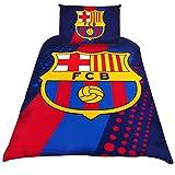 FC Barcelone housse de couette simple avec une taie dim. 200 x 140cm env. 100% polyester microfibre