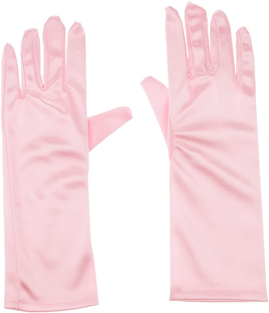 Bonarty Girls Gorgeous Fancy Gloves for Dress Formal Occasion Wedding Pageant Party