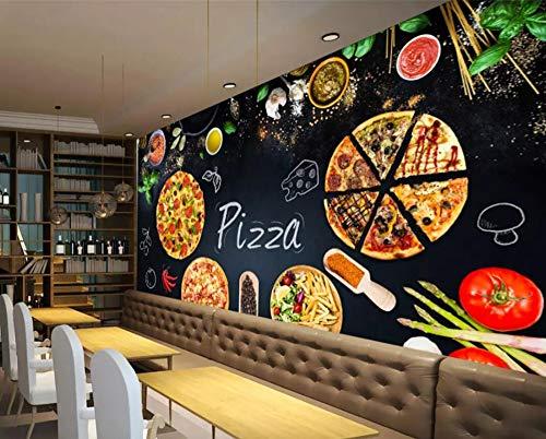papel de parede 3d wallpaper Modern personality pizza shop blackboard newspaper background 3D wall papers home decor,200 * 140cm