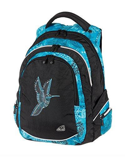 Walker 42105-080 Rucksack Fame Bird of Paradise, mit 3 Fächern, Seitentaschen, atmungsaktive Polster, verstellbarem Schulter- und Brustgurt, ca. 32 x 44 x 24 cm, 32 Liter