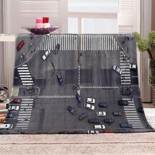 Couverture 3D Carrefour Impression 3D Couverture légère en Polaire de flannelle Linge de lit Couvre-lit Couverture de canapé 150x200CM