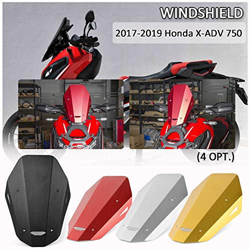Iycorish Parabrisas Parabrisas para MT-07 FZ-07 2018 2019 2020 Accesorios de Moto Deflectores de Viento Pare-Brise MT07 FZ07 MT FZ 07