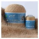 50 + 20 g / set Long Mink Hilo de cachemira Anti-Pilling Quality Hilo de tejer a mano para la bufanda de Cardigan Adecuado para mujer Ganchillo de lana de tejer chunky ( Color : 835 Light Brown )