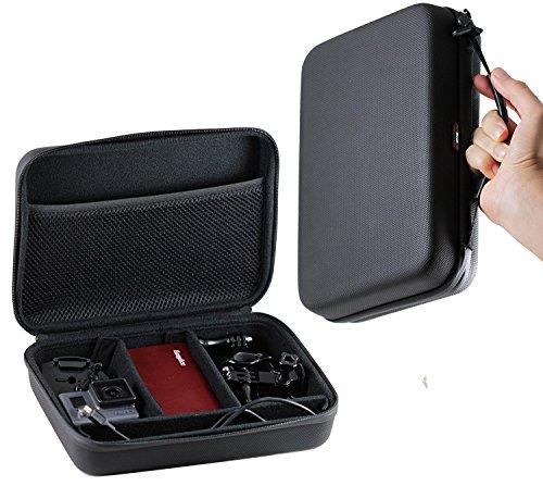Navitech Schwarzes Schock Sicheres harten Fall/Abdeckung/Gehäuse für das Panasonic HX-A1